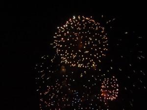 Feuerwerk rund